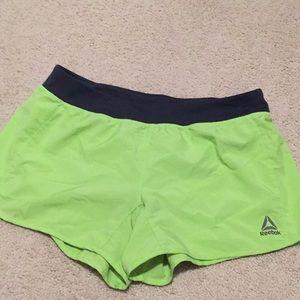 Pants - Green Reebok shorts